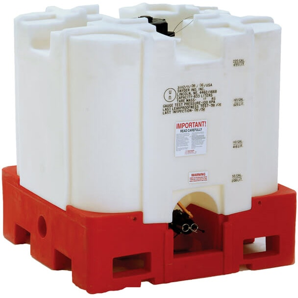 220 Gallon Safety Forklift Stackable Polyethylene IBC