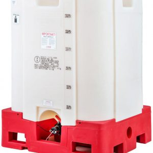 330 Gallon Safety Forklift Stackable Polyethylene IBC