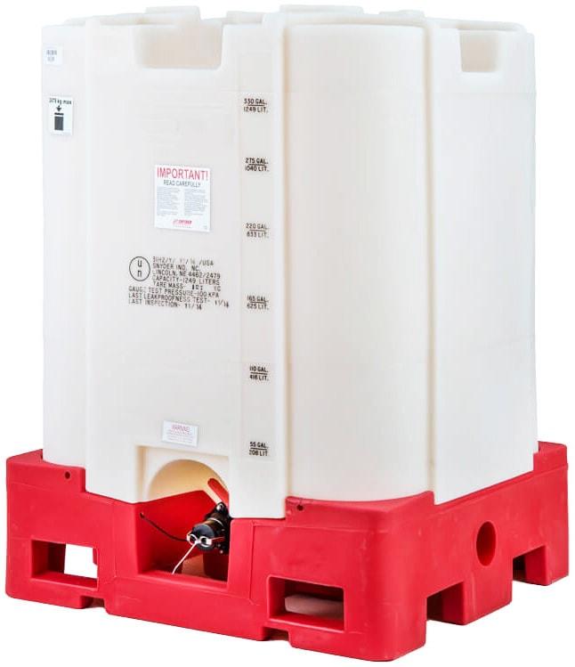 330 Gallon Safety Forklift Stackable Polyethylene IBC