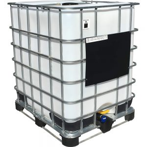 330 Gallon Rebottled Caged IBC
