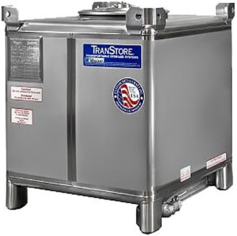 350 Gallon Food Grade Stainless Steel IBC